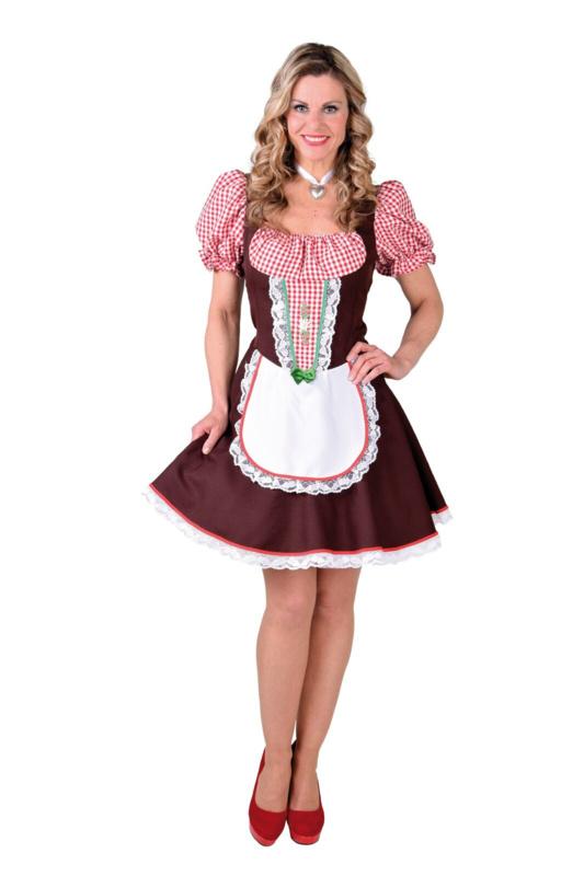 Tiroler jurkje bruin