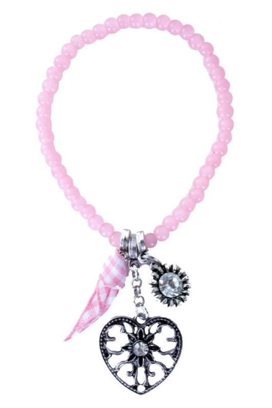 Armband tiroler hart roze