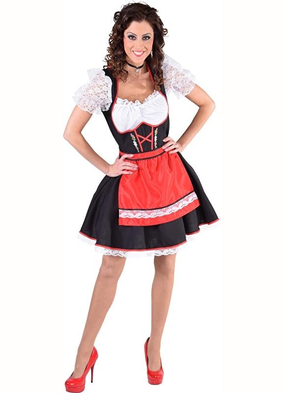 Rood Jurkje Goedkoop.Tiroolse Jurk Salzburg Rood Oktoberfestkleding Vrouwen