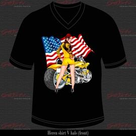 Biker Girl Geel 06