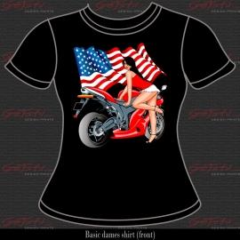 Biker Girl Rood 01