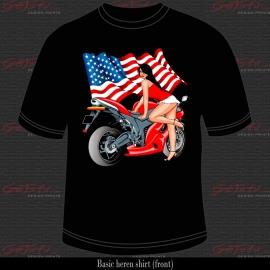 Biker Girl Rood 05