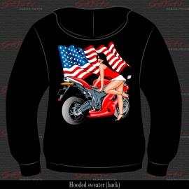 Biker Girl Rood 09