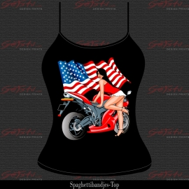 Biker Girl Rood 13