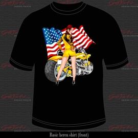 Biker Girl Geel 05