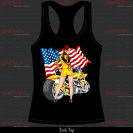 Biker Girl Geel 15
