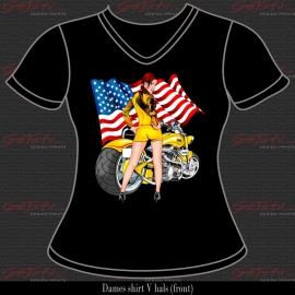 Biker Girl Geel 02