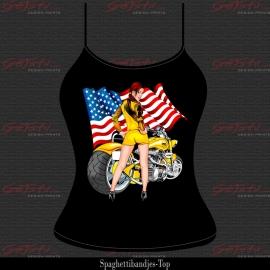 Biker Girl Geel 13