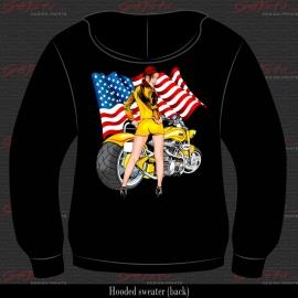Biker Girl Geel 09