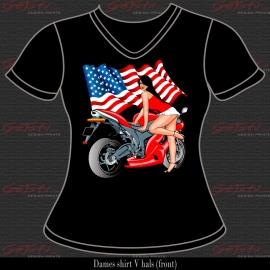 Biker Girl Rood 02