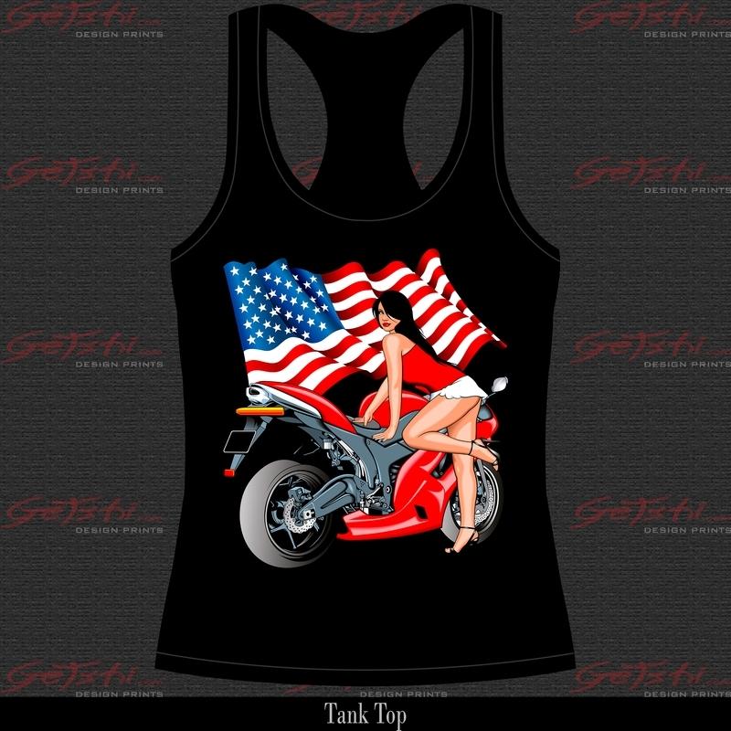 Biker Girl Rood 15