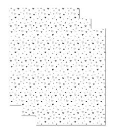Inpakpapier | Hearts Varia voordeelset  | 70 x 50 cm