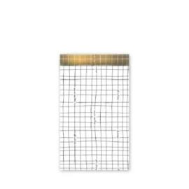 Kadozakjes Grid Wit Gold (5 stuks)