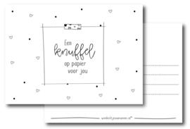 Een knuffel op papier voor jou