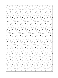 Inpakpapier | Hearts Varia | 70 x 50 cm