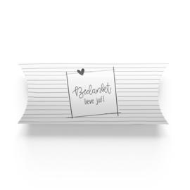 Geschenkverpakking | Bedankt lieve juf