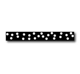 Masking tape |  Zwart big dots