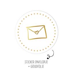 Rol stickers | Envelopje Wit