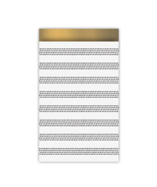 Kadozakjes dots with gold (5 stuks)