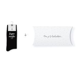 Sokken in geschenkverpakking | Supermeester | Maat 40-46