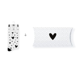 Sokken in geschenkverpakking | Hearts in the air white | Maat 37-41