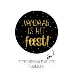Sticker | Vandaag is het feest | 10 stuks