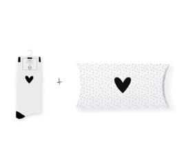 Sokken in geschenkverpakking | Single heart | Maat 37-41