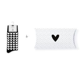 Sokken in geschenkverpakking | Hearts all over | Maat 37-41