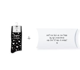 Sokken in geschenkverpakking | Supervriendin | Maat 37-41