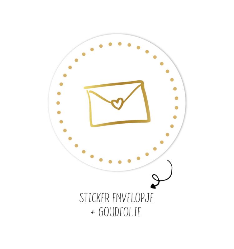Sticker | Envelopje Wit | 10 stuks