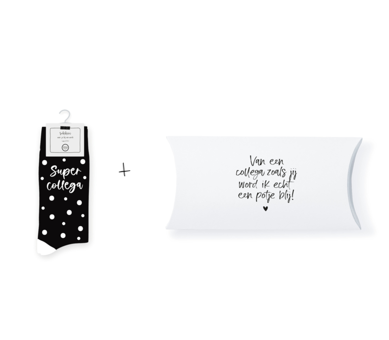 Sokken in geschenkverpakking   Supercollega   Maat 37-41