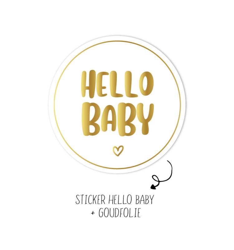 Sticker | Hello baby | 10 stuks