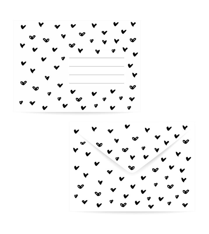 Envelop   Doodle hearts
