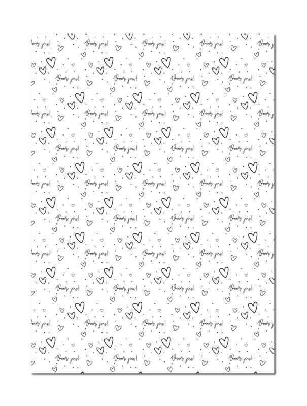Inpakpapier | Voor jou | 70 x 50 cm