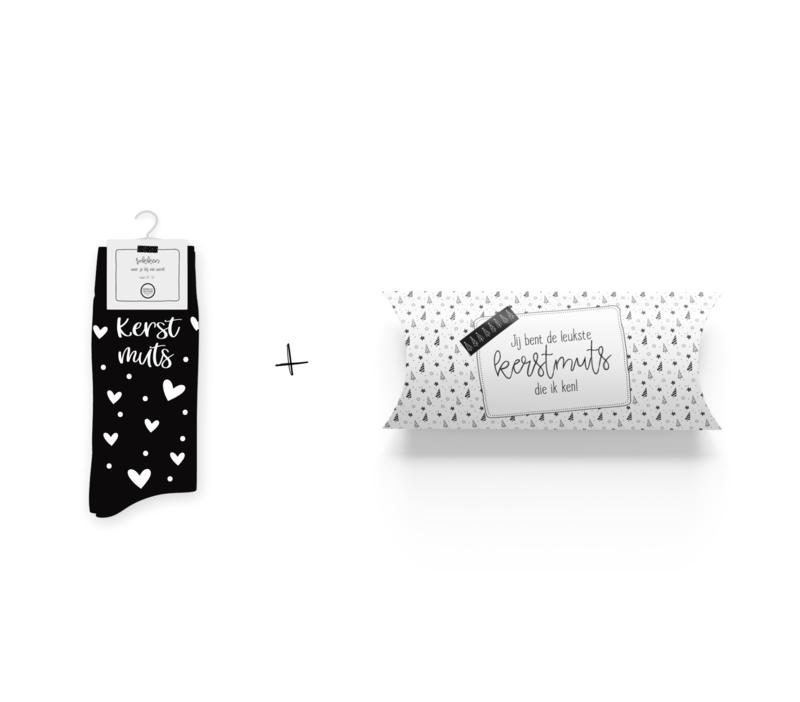Sokken in geschenkverpakking | Kerstmuts | Maat 37-41