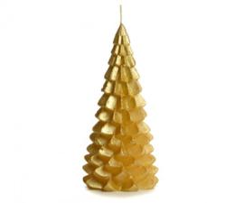 Rustik Lys Kerstboom kaars | groot goud