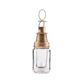 House Doctor lantaarn | glas goud