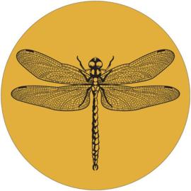 Muurcirkel 30cm mosterdgeel | Libelle