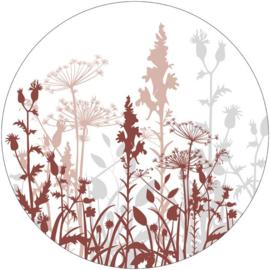 Muurcirkel 40cm | Veldbloemen