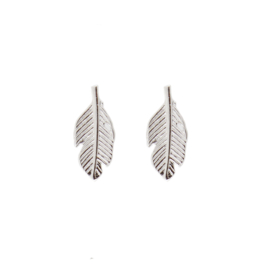 Oorbellen feather zilver | ATLITW