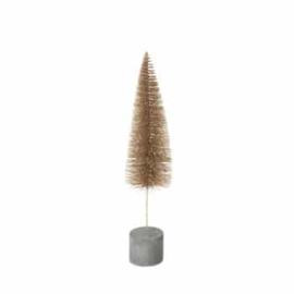 Broste kerstboom  goud | met betonvoet 36 cm