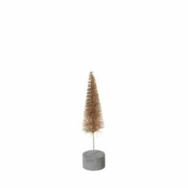 Broste kerstboom  goud | met betonvoet 22cm
