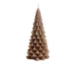 Rustik Lys Kerstboom kaars | groot cognac