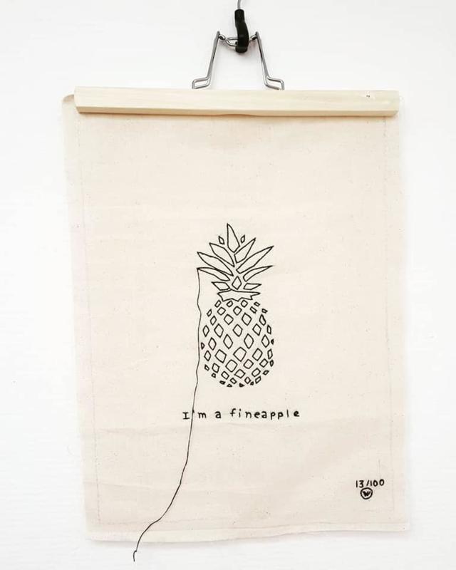 Stitched art Lemonwise | i'm a fineapple