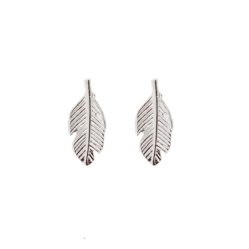 Oorbellen feather zilver | ATLITW