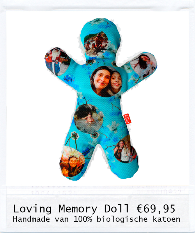 Loving Memory Doll Blue Flower