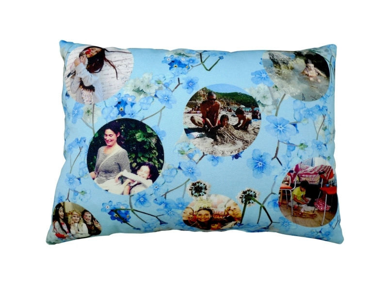 Loving Pillow Blue Flower