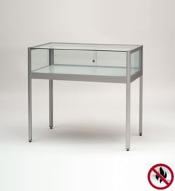 Fire class B1 Table display case 1000 silver