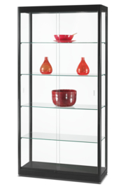 Glass display cabinet GPC 1000 black with LED top lights