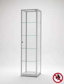 Fire class B1 display cabinet BMS 500 silver